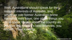 Well, ustraliansshouldXsbeak for the 