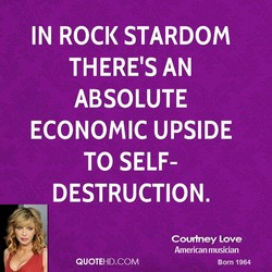 IN ROCK STARDOM 