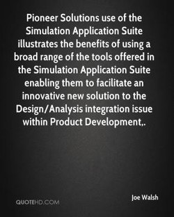 Pioneer Solutions use Of the 