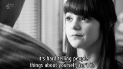 •v It's hard telling people 