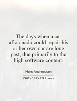 The days when a car 