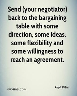 Send (your negotiator) 