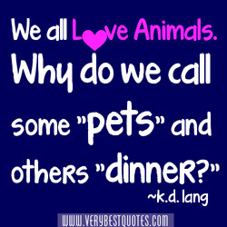 we all Leue Animals. Whq do we call some 'pets