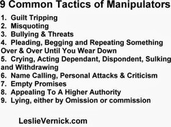 9 Common Tactics of Manipulators 