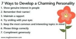 how to develop a charming personality