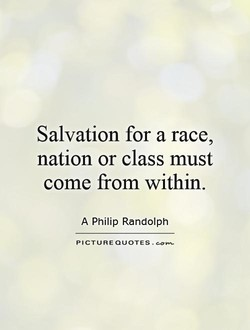 Salvation for a race, 