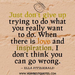 Just don't give up 