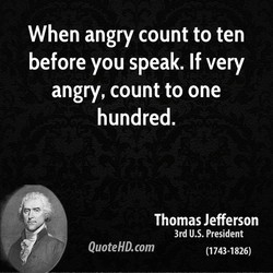 When angry count to ten 