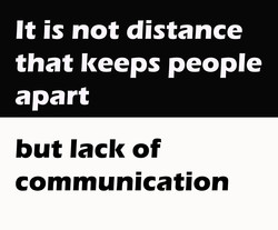It is not distance 
