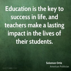 Education is the key to 