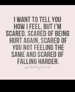 I WANT TO TELL YOU 