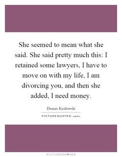 She seemed to mean what she 