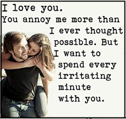 I love you. 