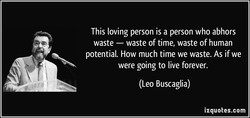 This loving person is a person who abhors 