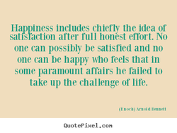 Happiness includes chiefly the idea or 