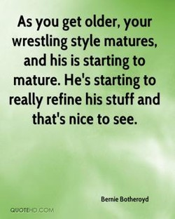 As you get older, your 