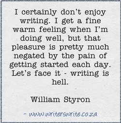 I certainly don't enjoy 