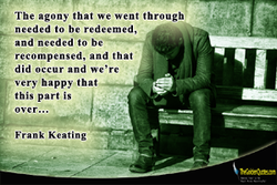 The agony that we went through 