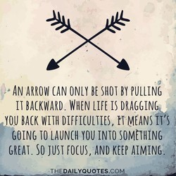 AN ARROW BE SHOT BY PULLING 