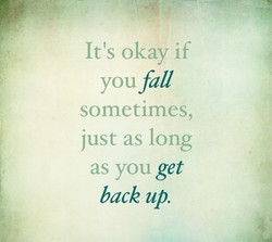 It's okay if 