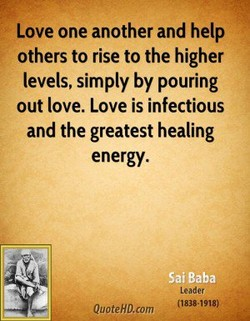 Love one another and help 