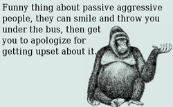 Funny thing about passive aggressive 