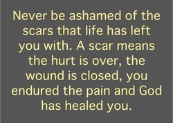 Never be ashamed of the 