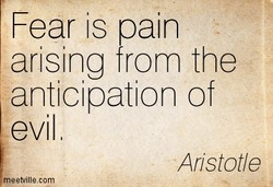 Fear is pain 