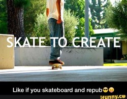 Like if you skateboard and repub9' 