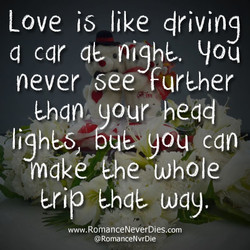 Love is like driving 