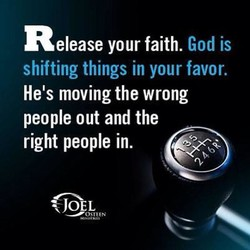 Release your faith. 