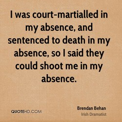 I was court-martialled in 
