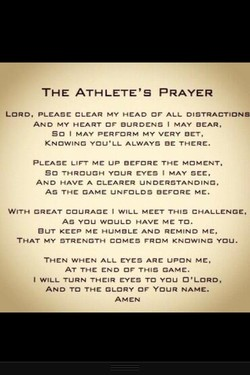 THE ATHLETE'S PRAYER 