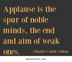 Applause is the 