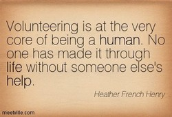 Volunteering is at the very 