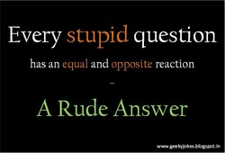 Every stupid question 
