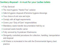 Sanitary disposal— A must for your Ladies toilets 