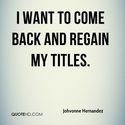 I WANT TO COME 
