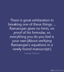 There is great exhilaration in 