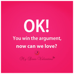 You win the argument, 