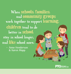 When schools, families, 