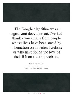 The Google algorithm was a 