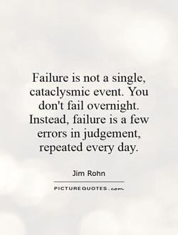 Failure is not a single, 