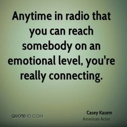Anytime in radio that 