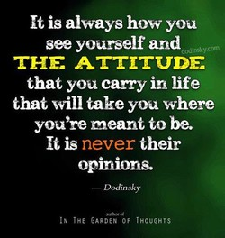 It is always how you 