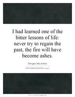 I had learned one of the 