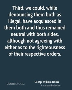 Third, we could, while 