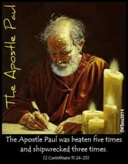 The Apostle Paul was beaten Five times 
