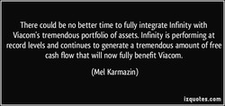 There could be no better time to fully integrate Infinity with 