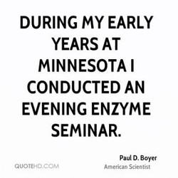 DURING my EARLY 